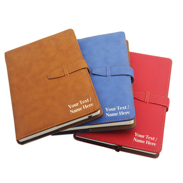 Personalised PU Leather Notebook Journal Diary - EDSG