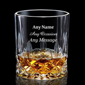 Personalised Engraved Whiskey Tumbler Glass 7oz - EDSG