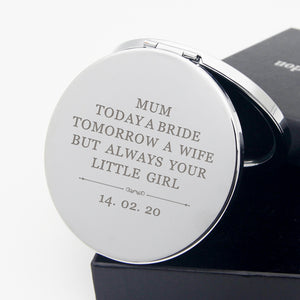 Personalised Handheld Mirror Any Text Thank You Gift - EDSG