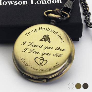 Personalised Engraved Pocket Watch Birthday Anniversary Wedding Gift -Love Always - EDSG