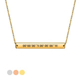 Personalised Engraved Bar Necklace For Her - EDSG