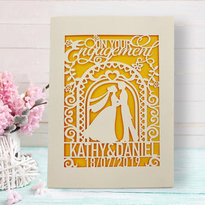 Personalised Engagement  Greeting Cards - EDSG