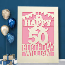 Load image into Gallery viewer, Personalised  Birthday Card Beard Any Name Any Age - EDSG