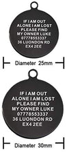 Load image into Gallery viewer, Personalised Engraved Cat Dog Tag Stainless Steel