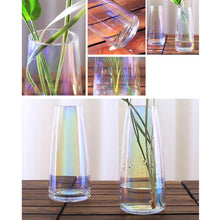 Load image into Gallery viewer, Personalised Engraved Vase | Rainbow Plated Glass Vase Flower Vase - EDSG