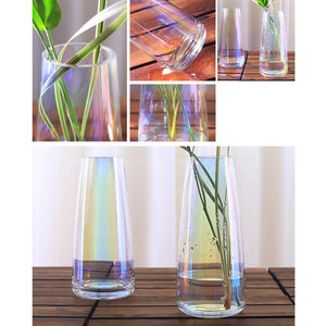 Personalised Engraved Vase | Rainbow Plated Glass Vase Flower Vase - EDSG