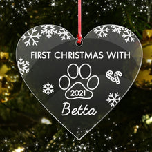 Load image into Gallery viewer, Personalised Christmas Tree Bauble Cat Dog Pets Name Decoration Xmas Ornament - EDSG