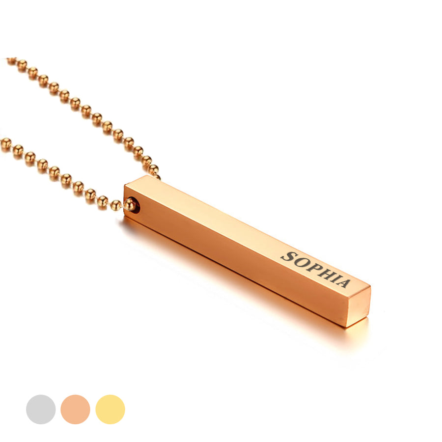 Personalised Engraved Bar Necklace Gift For Her / Women / Girls - EDSG