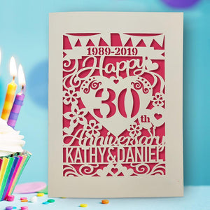 Personalised Anniversary Card for Husband for Wife - EDSG