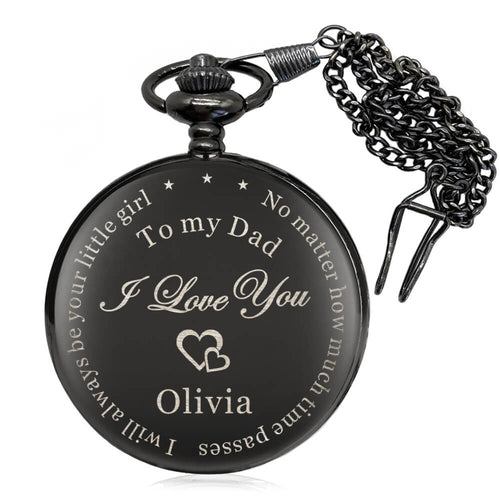 Personalised Pocket Watch Engraved Gift for Boy - EDSG