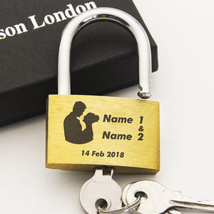 Personalised Engraved Love Lock Bride & Groom - EDSG