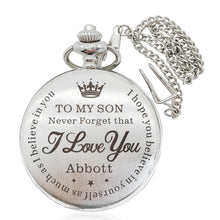 Load image into Gallery viewer, Personalised Pocket Watch Engraved Gift for Father - EDSG