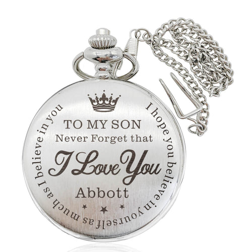 Personalised Pocket Watch Engraved Gift for Father - EDSG