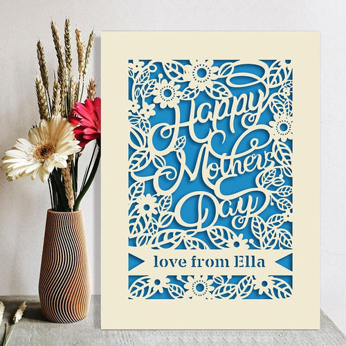 Personalised Mothers Day Card - EDSG