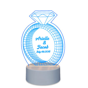 Personalised Wedding Decoration  Lighted Cake Toppers Diamond - EDSG