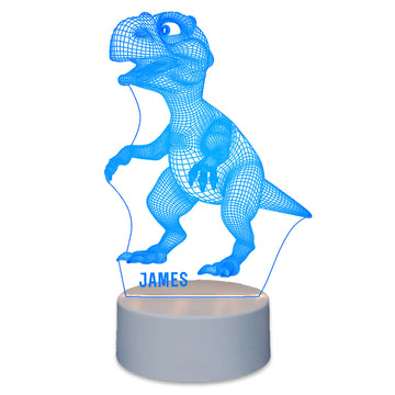Personalised Kids Gifts 3D LED Dinosaur Night Light - EDSG