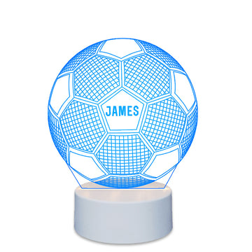 Personalised 7 Colours 3D LED Football Lamp Night Light - EDSG