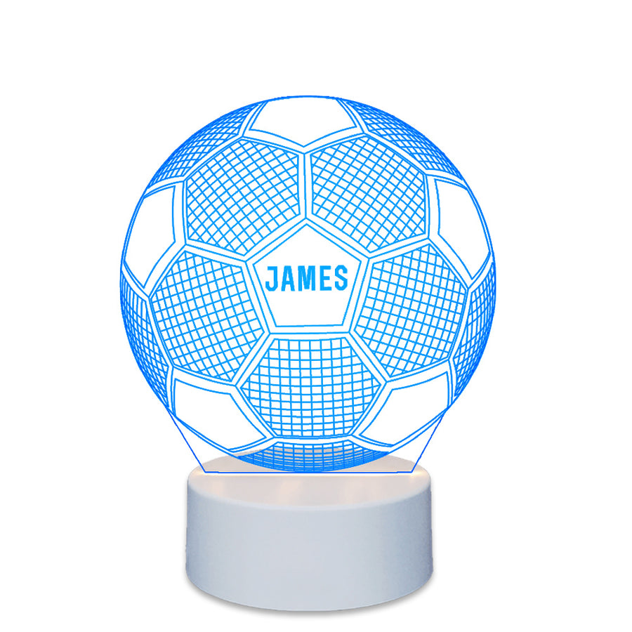 Personalised Children's Night Light 3D LED Football Light - EDSG