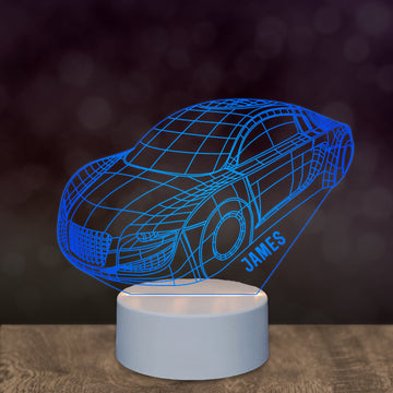 Personalised Night Light For Kids 3D LED Car Light - EDSG
