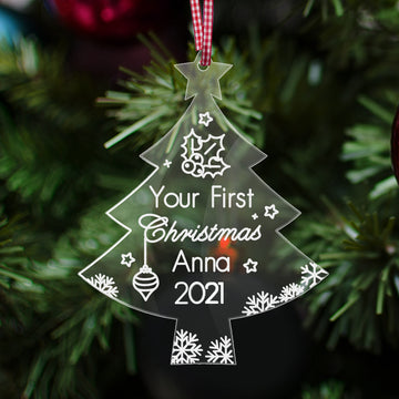 Personalised Baby's 1st Christmas Bauble - EDSG