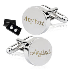 Load image into Gallery viewer, Personalised Engraved Cufflinks Any Text - EDSG