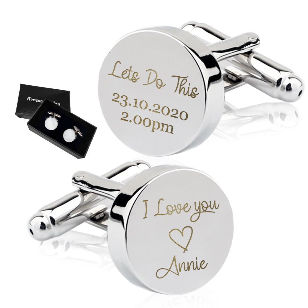 Personalised Engraved Cufflinks Lets Do This - EDSG