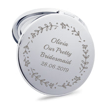 Load image into Gallery viewer, Personalised Handheld Mirror Bridesmaid Gift - EDSG