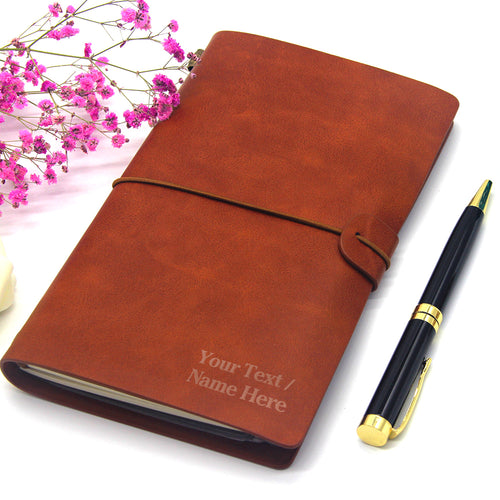 Personalised Leather Notebook Leaving Gift A5 - EDSG