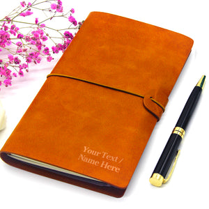 Personalised Leather Notebook A5 - EDSG