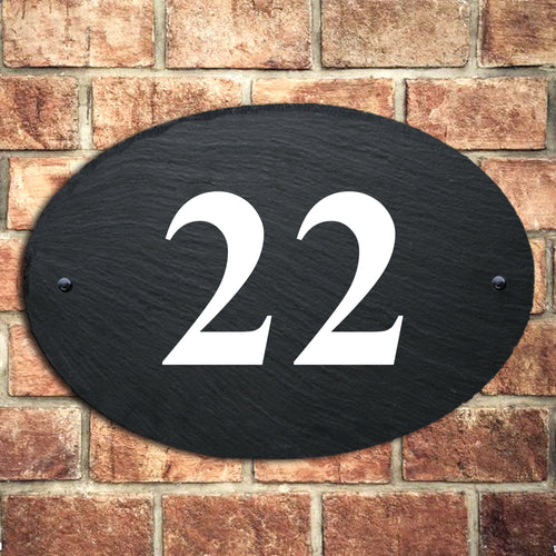 Personalised Natural Slate House Sign Door Number - EDSG