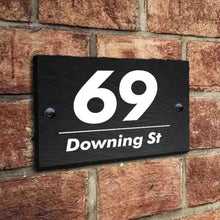 Load image into Gallery viewer, Personalised House Sign Slate Door Number Plaques UV Print - EDSG