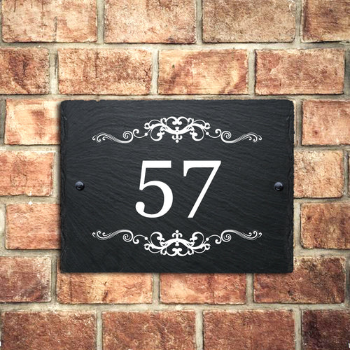 Personalised Natural Slate House Door Number - EDSG