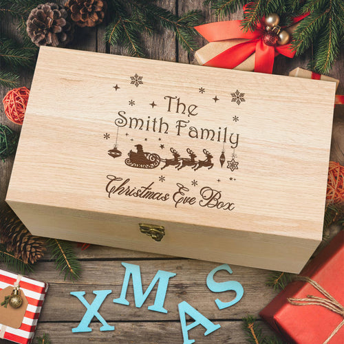 Personalised Christmas Wooden Box - EDSG