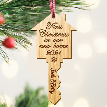 Personalised 1st Christmas New Home Bauble - EDSG