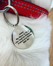 Load image into Gallery viewer, Personalised Engraved Cat Dog Puppy Tag