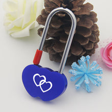Load image into Gallery viewer, Personalised Engraved Padlock Double Heart Shape Lock  4 Colors
