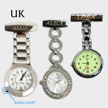 Load image into Gallery viewer, Personalised Engraved Nurse Fob Watch for Women