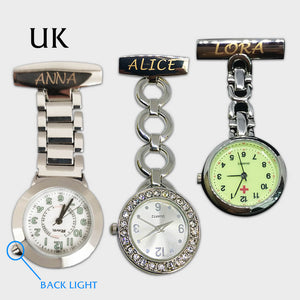 Personalised Engraved Nurse Fob Watch for Women