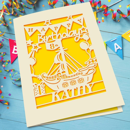 Personalised Birthday Card Sailboat Style - EDSG