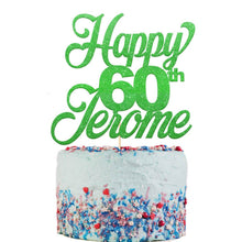 Load image into Gallery viewer, Happy 60th Birthday Cake Topper Any Name Age - EDSG