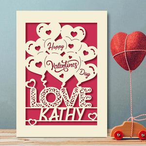Personalised Valentine's Day Card - EDSG