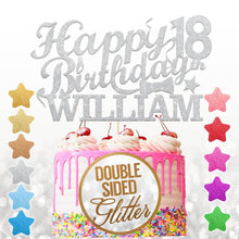 Load image into Gallery viewer, Personalised 18th Birthday Cake Topper Any Name Age - EDSG