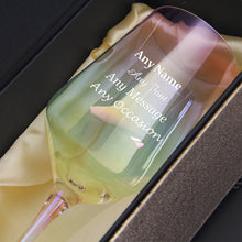 Load image into Gallery viewer, Personalised Engraved Lustre Wine Glass - EDSG