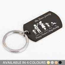 Load image into Gallery viewer, Personalised Army Keyring Family Portrait for Father - EDSG