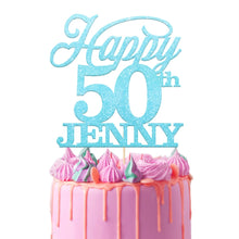 Load image into Gallery viewer, Personalised 50th Birthday Cake Topper Bold Text - EDSG
