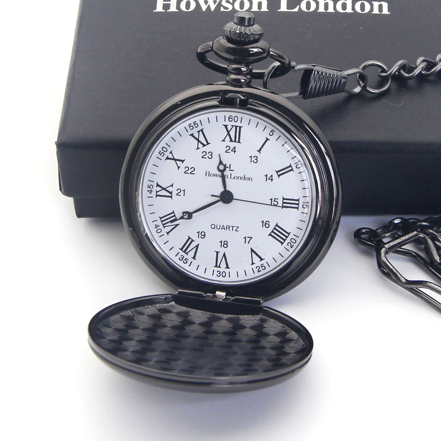 Personalised Engraved Pocket Watch Birthday Anniversary Wedding Gift - Text Only - EDSG
