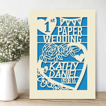 Load image into Gallery viewer, Personalised Wedding Anniversary Card - EDSG