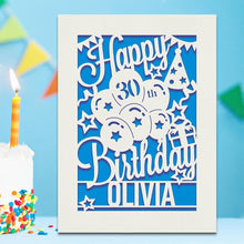 Load image into Gallery viewer, Personalised Birthday Card Any Name Any Age - EDSG