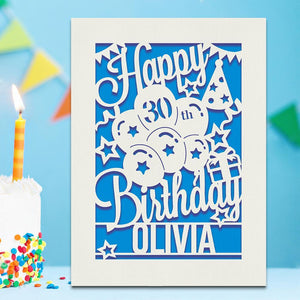 Personalised Birthday Card Any Name Any Age - EDSG