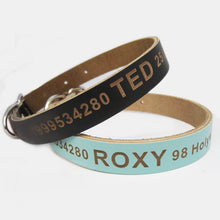 Load image into Gallery viewer, Personalised Engraved Leather Dog Collar UK - EDSG